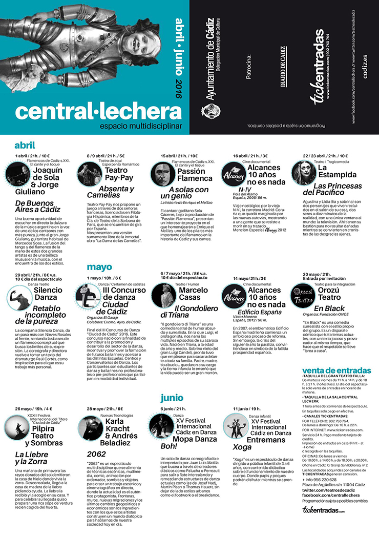 Cartel central lechera